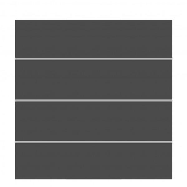 Sichtschutz BOARD XL Zaun-Set schiefer