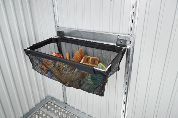 Einhängesack mit Wandschiene für Gerätehäuser