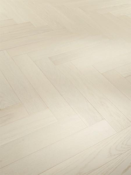 Parkett Trendtime 3 Living Eiche Perlmutt matt lackiert 1-Stab Landhausdiele, Minifase