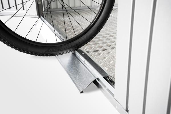 Bodenschwellen-Rampe für Gerätehäuser (Nur bei Doppeltür und Bodenrahmen)