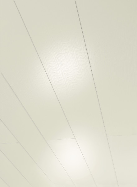 MilanoClick Esche Weiss glänzend geplankt Dekor