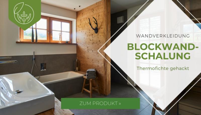 Blockwandschalung Thermofichte