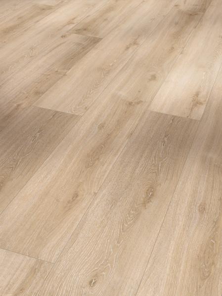 Vinyl Basic 30 Schlossdiele Eiche Royal hell gekälkt Holzstruktur gefast