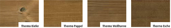 Thermomodifizierte Holzfassade