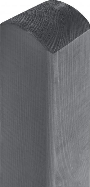 Pfosten Kiefer grau lasiert mit Kopfrundung