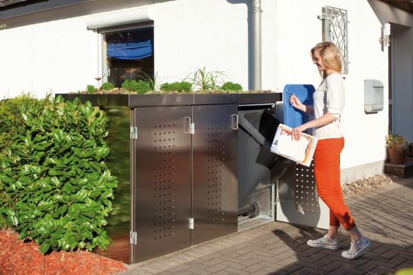 Binto Mülltonnenverkleidung Edelstahl