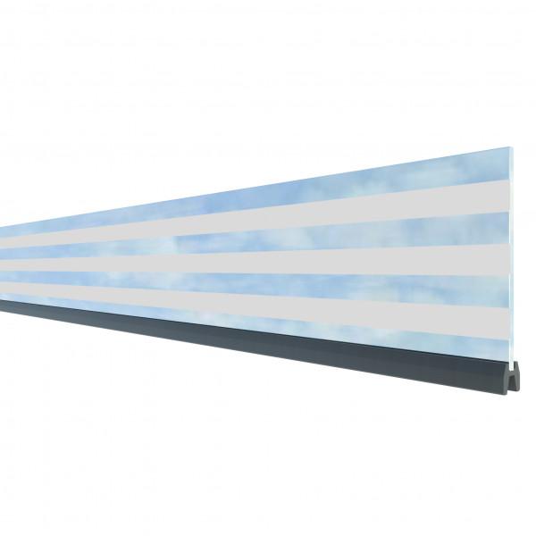SYSTEM Dekorprofil Delta Glas 15 cm Höhe