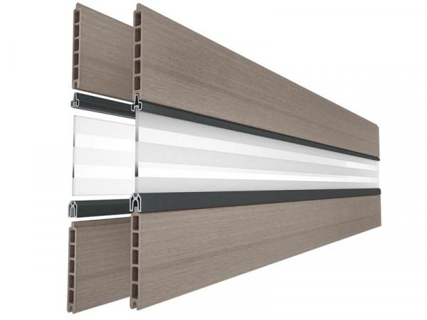 FUN Fence Oberprofil für Glaseinsatz