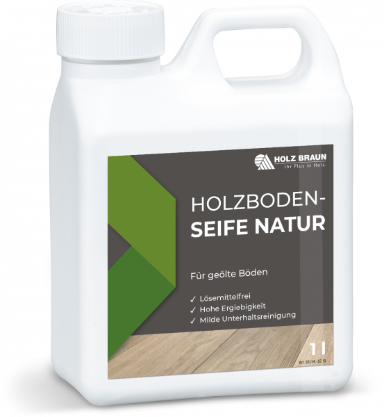 Holzboden Seife Natur