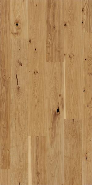 Parkett Basic Großdiele 11-5 Rustikal Eiche gebürstet matt lackiert, 1-Stab Landhausdiele, Minifase