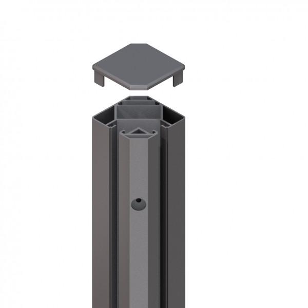 SYSTEM Eck-Klemmpfosten anthrazit