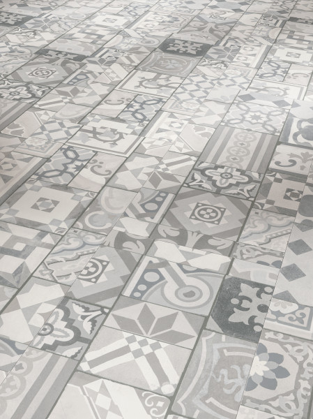 Vinyl Trendtime 5.30 Ornamentic Grey Mineralstruktur gefast