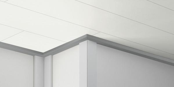 ClickBoard Abschlussleiste Alu Optik