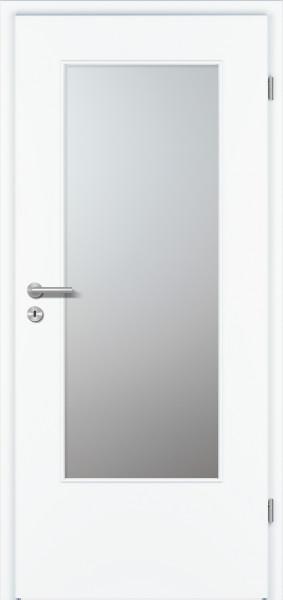 Prüm Zimmertüre Weisslack mit Glasausschnitt