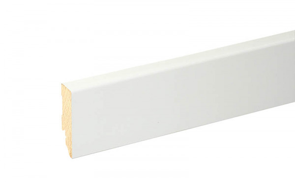 Sockelleiste Weiß foliert 58mm