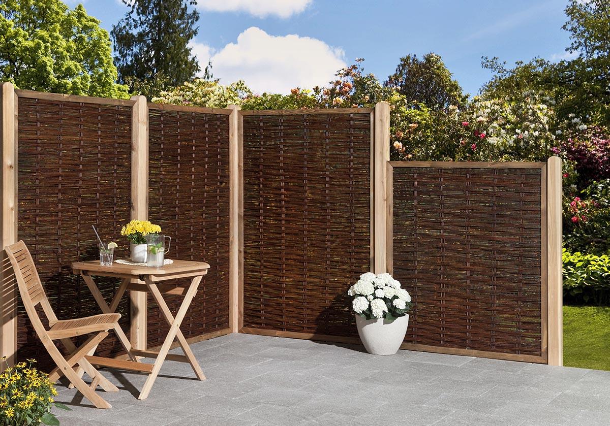 Sichtschutzelement Weide Holz Sichtschutz Sichtschutz Zaune