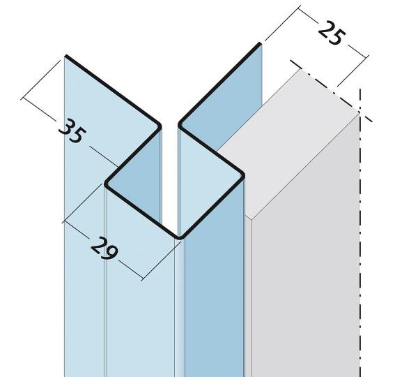 Fassadeneckprofil Außenecke geschlossen