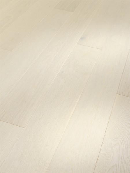Parkett Trendtime 4 Living Eiche Perlmutt matt lackiert 1-Stab Landhausdiele, Minifase