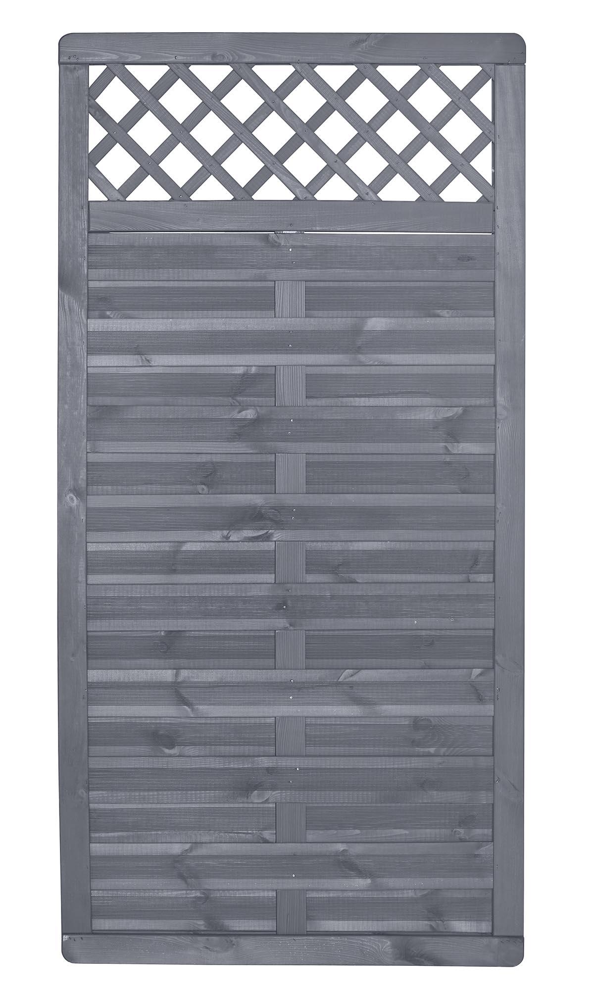 Sichtschutzelement Licata Grau Lasiert Holz Sichtschutz Sichtschutz Zaune Gartenwelt Holz Braun