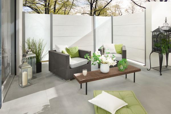 Sichtschutz BOARD XL Zaun-Set marmor