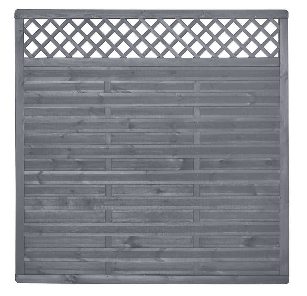 Sichtschutzelement Licata Grau Lasiert Holz Sichtschutz