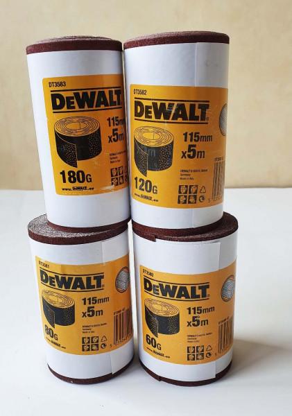 DeWALT Schleifpapier-Rolle 115mm K180 5m