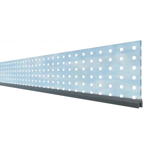 SYSTEM Dekorprofil Theta Glas 15 cm Höhe