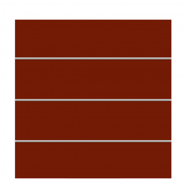Sichtschutzelement rot