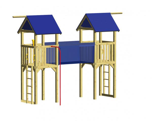 WINNETOO Spielturm RIALTO mit Hängebrücke