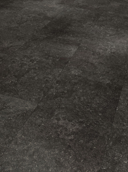 Designboden Modular ONE Großfliese Granit anthrazit Steinstruktur Minifase