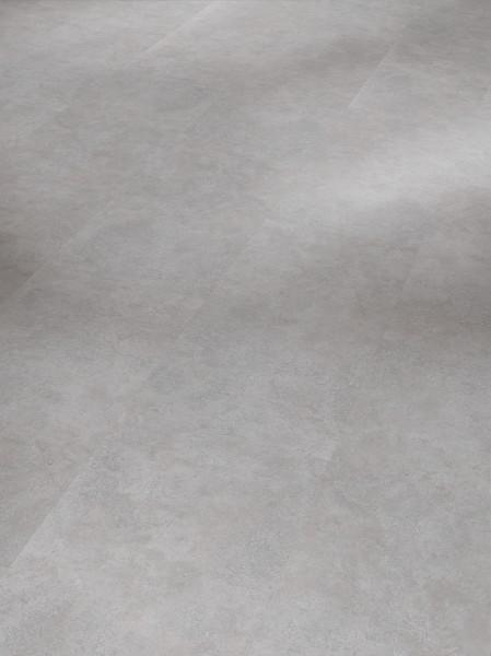 Vinyl Basic 2.0 Fliese Beton Grau Steinstruktur