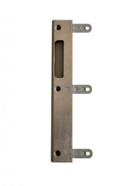 Einlochschließblech für Ganzglastüren