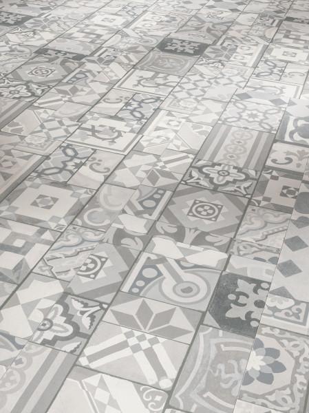 Vinyl Trendtime 5.50 Ornamentic Grey Mineralstruktur gefast