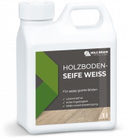 Holzboden Seife Weiss
