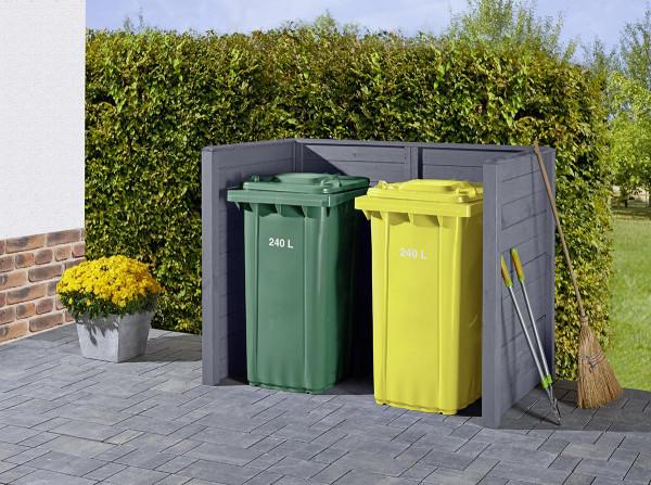 Mülltonnenabtrennung Grau