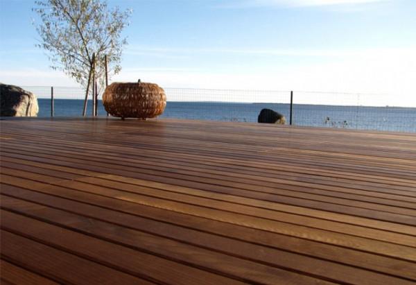 Terrassendielen Thermo-Esche 20x112mm glatt gehobelt