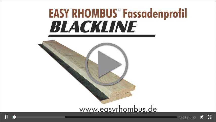 Easy Rhombus Black Line Fassade