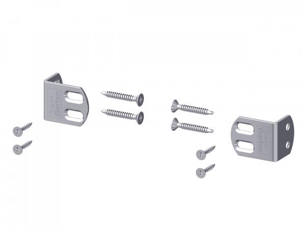 Edelstahl-Elementhalter plus (6er-Set) V2A
